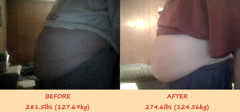 7-10-2015 7-17-2015 Before And After 281.5lbs To 274.6lbs